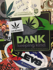 a collection of cannabis stickers