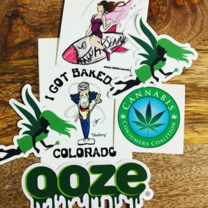 cannabis stickers
