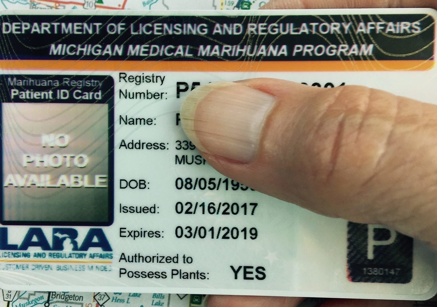 A Michigan Medical Marijuana card which helped pay for a public health campaign with cannabis provisioning centers