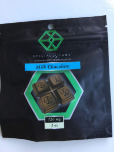 an edible marijuana chocolate with 125 mg of THC