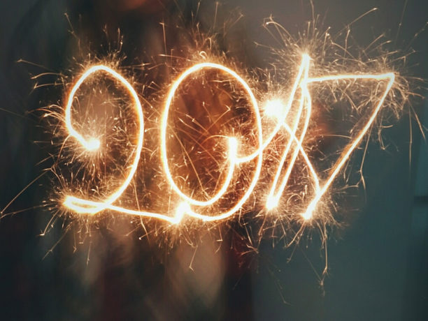 photo of 2017 made by a sparkler