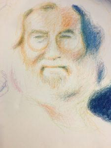 drawing of Jerry Garcia from the Grateful Dead, a proponent of legal marijuana