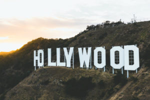 photo of the Hollywood sign in California