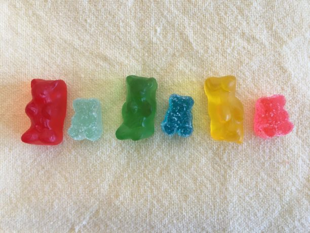 photo of tiny gummies made for marijuana microdosing