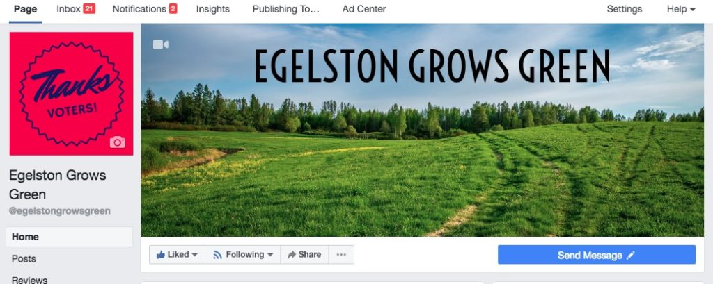 photo of the egelston grows green facebook page