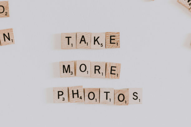 scrabble tiles that say take more photos: for your cannabis business website