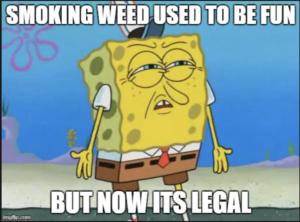 marijuana meme featuring sponge bob squarepants